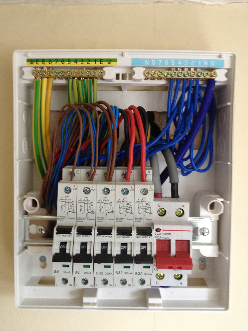 Fantastic rcbo wiring diagram images electrical system block cool wiring a garage consumer unit diagram photos electrical and cheapraybanclubmaster Images
